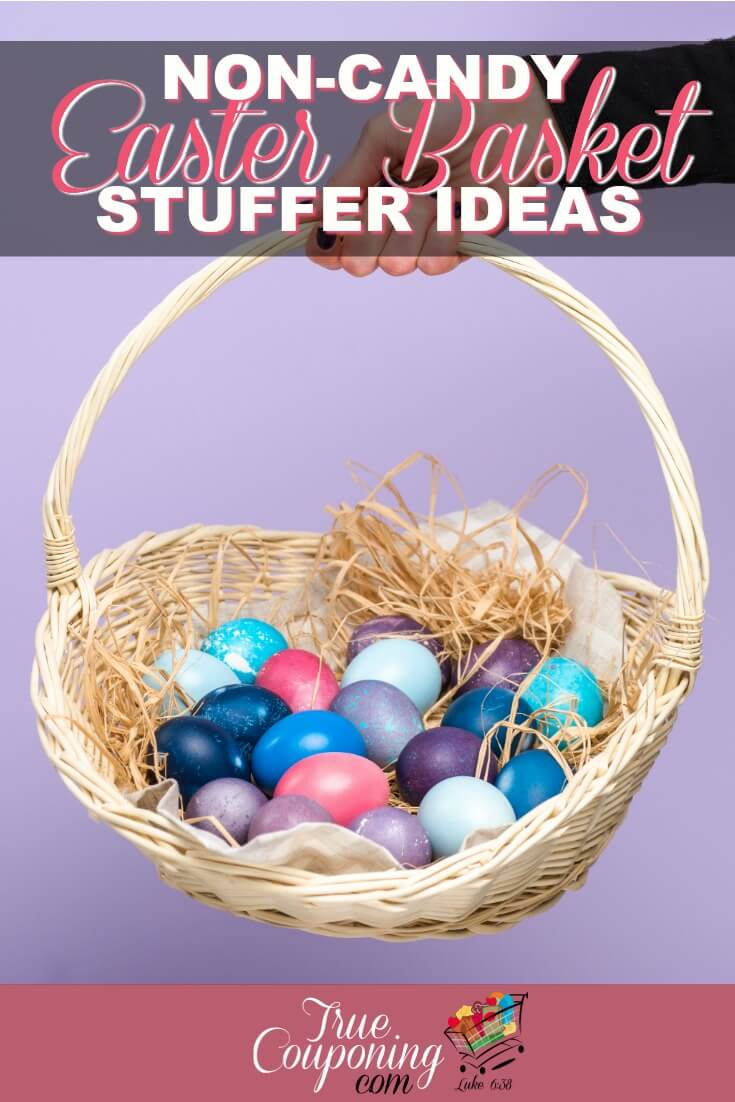 Sick of having another holiday that focuses on CANDY?!! It IS possible to create a candy-free Easter basket your kids will love! #savingmoney #truecouponing #easterbasketideas #easter