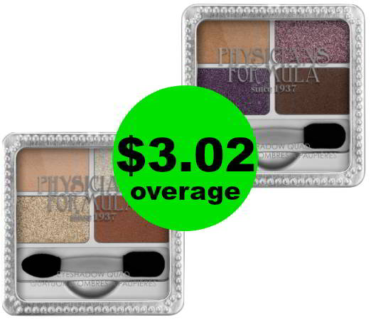 Grab TWO (2!) FREE + $3.02 OVERAGE on Physicians Formula Eye Shadows at CVS! Ends Saturday!