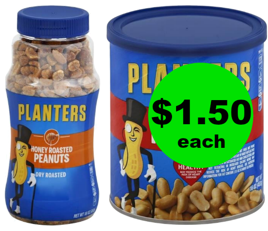 (+*Updated: NLA**)This deal is NUTS! Pick Up Planters Peanuts for $1.50 Each at Publix! ~ Start Weds/Thurs!