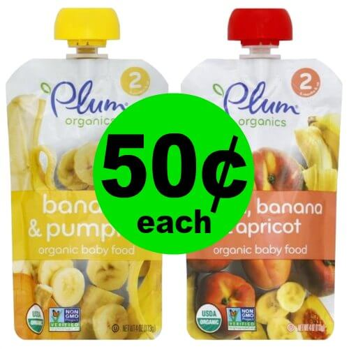 50¢ Plum Organics Organic Baby Food at Publix! (Ends 1/2 or 1/3)