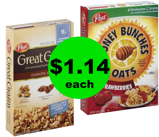 Munch on Post Great Grains or Honey Bunches of Oats Cereal for $1.14 Each at Publix! ~ Ad Starts Today!