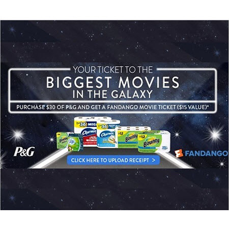 FREE Fandango Movie Ticket ($15 Value) wyb $30 of P&G Products at Publix! (Ends 1/31)