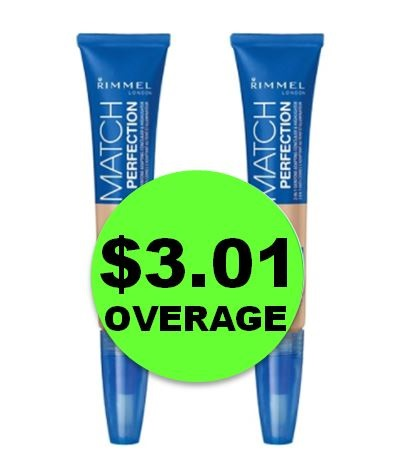 PRINT NOW for TWO (2!) FREE + $3.01 OVERAGE on Rimmel Match Perfection Concealer & Highlighter at Target! NOW!