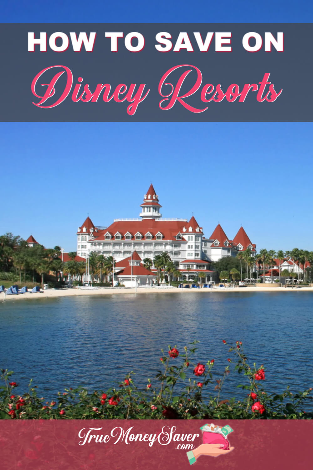 Want to stay at a Disney resort but think you can\'t afford it? Think again! There are some fabulous ways to save and stay on Disney property! #disney #truemoneysaver #savingmoney #disneyresort #florida #familyvacay #vacay #resort#disneycoronadosprings #disneyportorleansriverside #disneyartofanimationresort #disneygrandfloridian