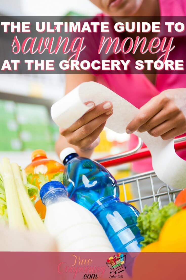Do you always overspend at the grocery store? Here\'s how you can save the most on your most needed items - groceries! #truecouponing #savings #couponingcommunity #groceries #debtfree