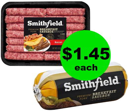 Stock Up on Smithfield Breakfast Sausage for $1.45 Each at Publix (PRINT NOW!) Starts Weds/Thurs!