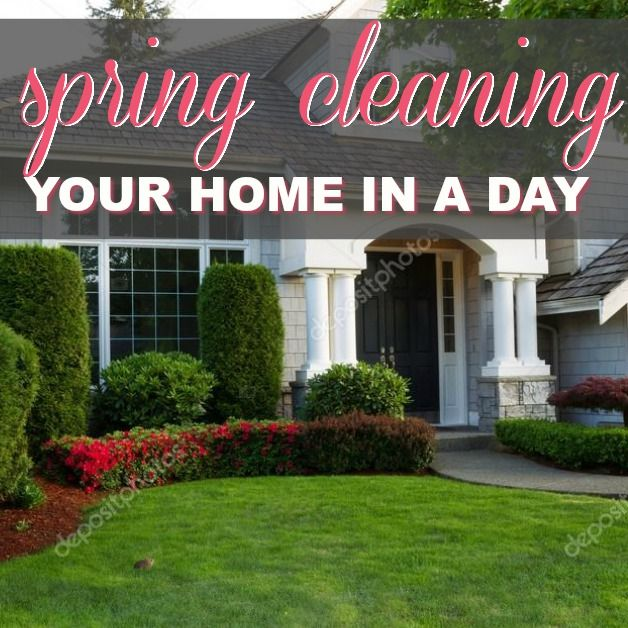 Spring Cleaning Your Home In A Day
