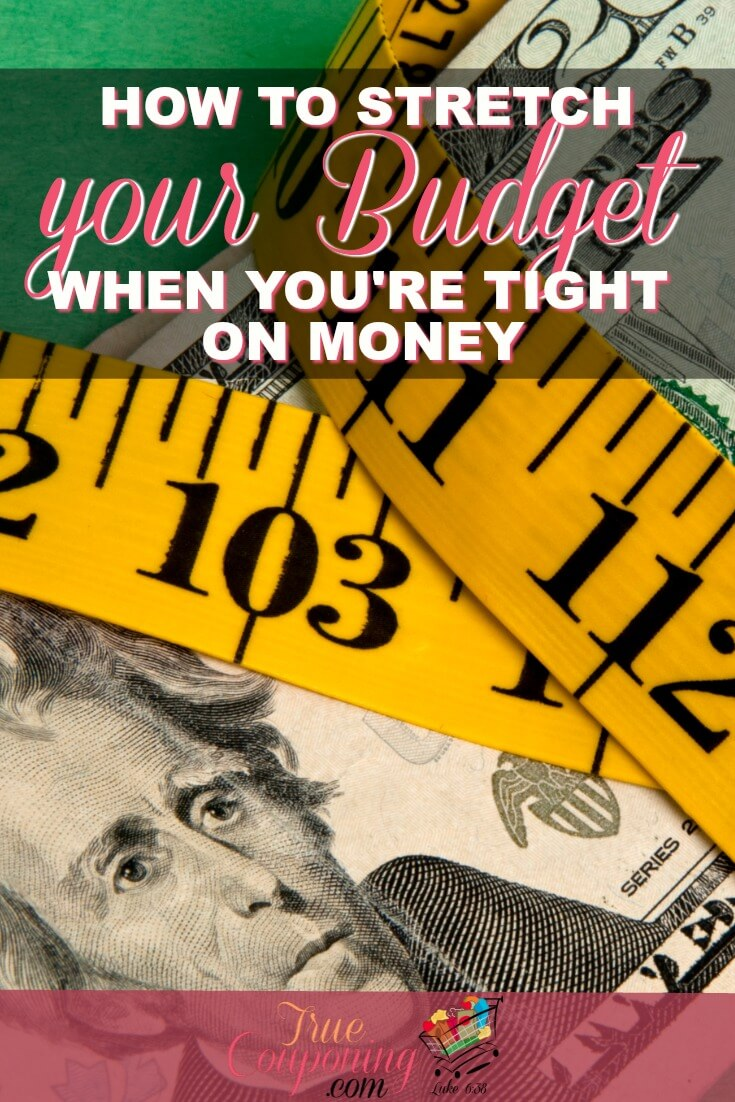 Do you need to may your paycheck stretch a little farther this month? You can stretch  your budget with these super tips! #truecouponing #budget #savings #budgeting #couponing