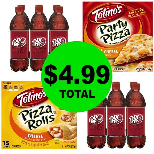 For Only $4.99 Total, Get (2) Dr. Pepper 6 Pack Bottles & (2) Totino's Pizzas or Rolls at Publix! (1/3 or 1/4 to 1/5)