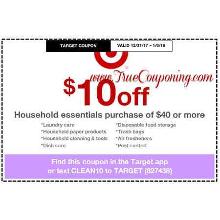 Heads Up! this Sunday (12/31/17) We're Getting a FREE $15 Gift Card wyb $75 Baby Department AND $5 & $10 Off Household Target Coupons!