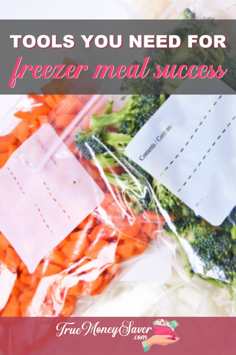 Do you what freezer meal tools you need to be a success? Grab these freezer meal prep supplies to make your easy freezer meal prep go faster and smoother! Plus, I share my best freezer meal prep tips for families! Get started today!