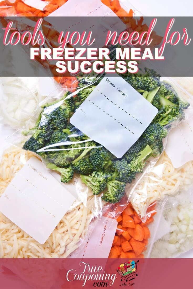 Do you make freezer meals? Then make sure you have these tools to make it easier and faster!