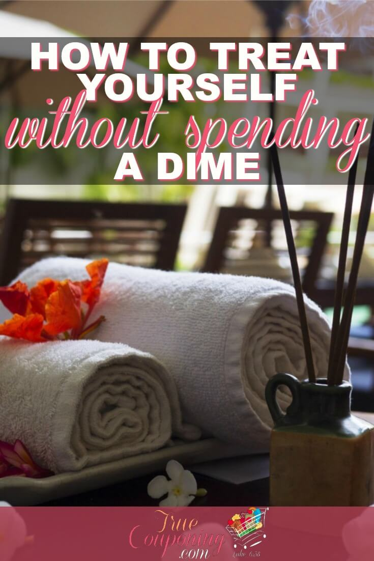 It's been proven that you'll be MORE productive if you take a little time for yourself... but that can get expensive! Here are some easy ways to treat yourself, without spending any money to do it! #savingmoney #truecouponing #spaday #freebies #debtfree