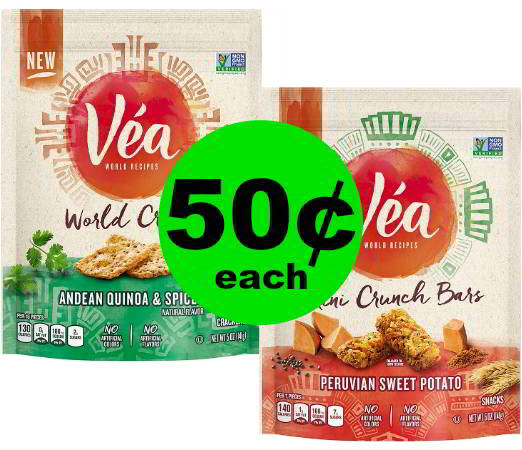 Time to Snack and Crunch! Pick Up Vea Snacks for 50¢ Each at CVS! Ad Starts Today!