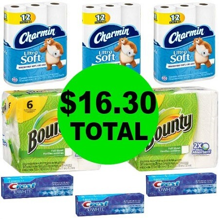 Don't Miss the $36.89 Worth of Dish Soaps, Toothpastes & Paper Products at Walgreens For Only $16.30! (12/31 – 1/6)