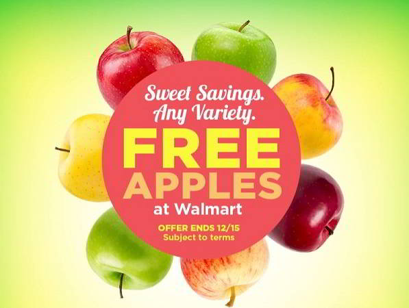 Don't Miss Out on Your FREE Apples at Walmart! ~Ends Friday, 12/15!