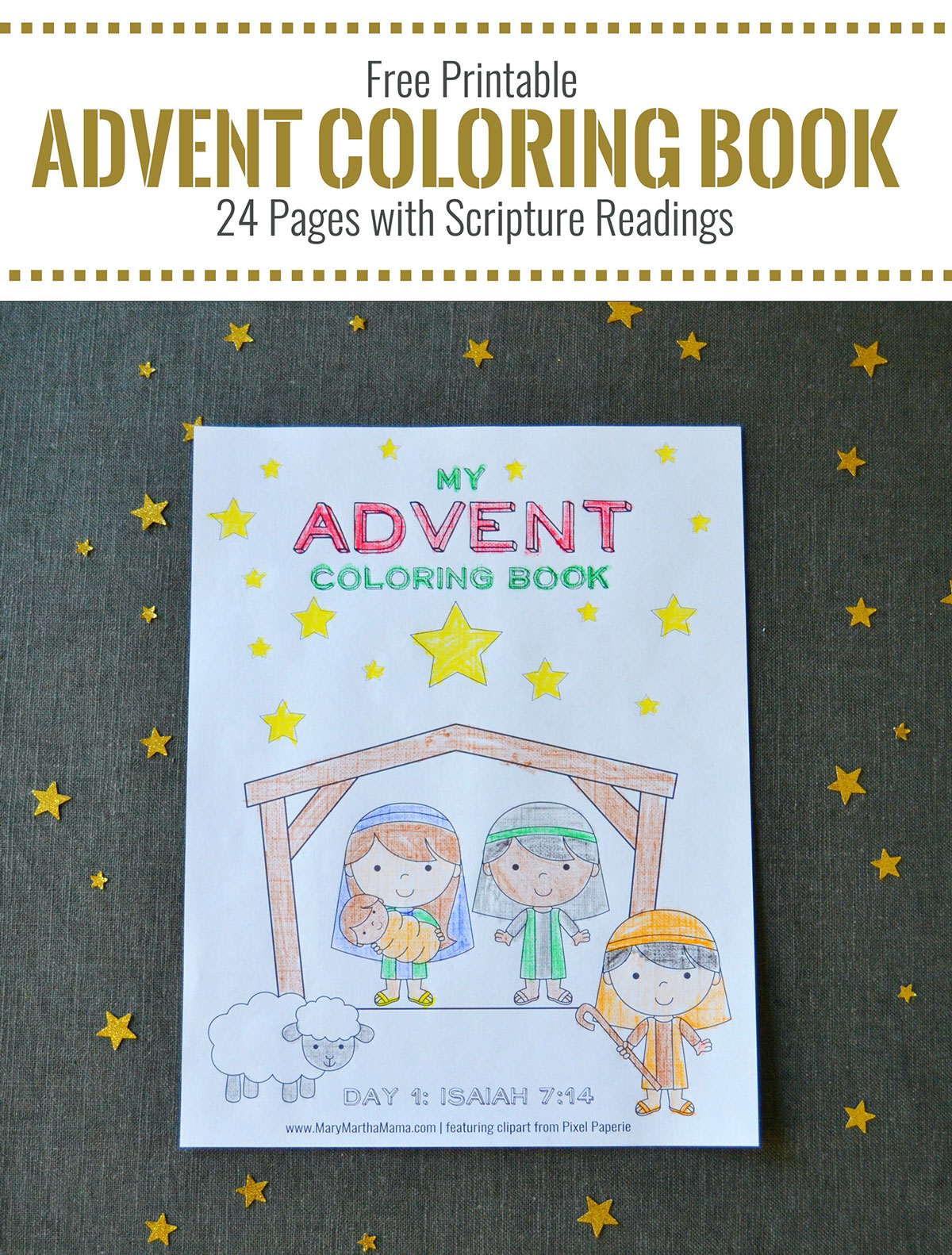 FREE Printable Advent Coloring Book!