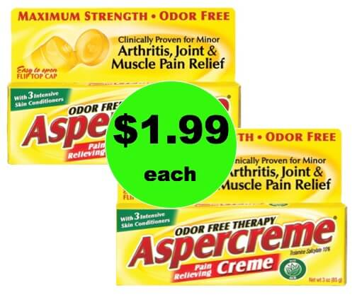 Be Gone Aches and Pains with $1.99 Aspercreme Pain Relieving Creme (Save $3) at Target! (Ends 1/3)