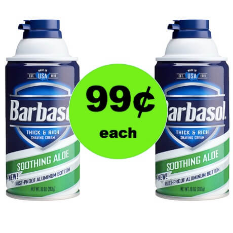 Enjoy the Shave with 99¢ Barbasol Shaving Cream at Walgreens! (Ends 12/30)