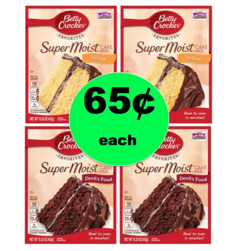 Stock Up on Betty Crocker Cake Mix As Low As 65¢ Each at Winn Dixie! ~ Continues This Week!