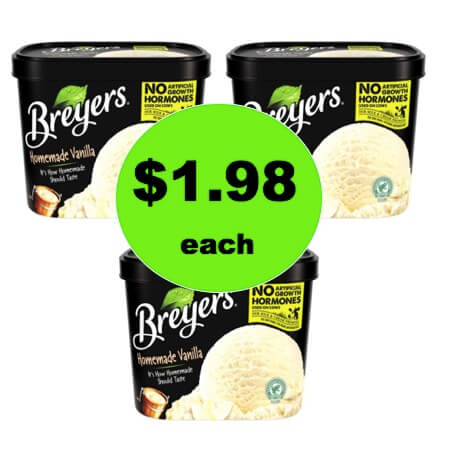 You'll Be Screaming for More with $1.98 Breyers Ice Cream Tubs at Walmart! (Ends 12/31)