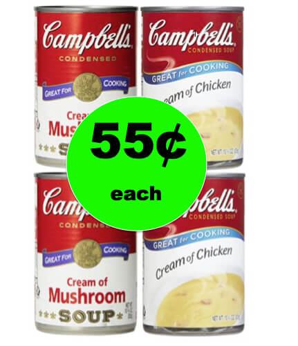 Stock Up with 55¢ Campbell's Cream of Mushroom or Chicken Condensed Soups at Target! NOW!