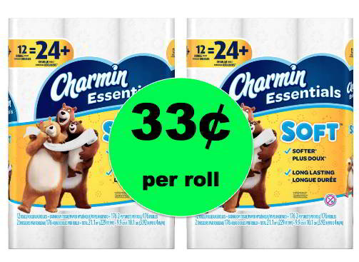 SUPER DEAL on Charmin Essentials Toilet Paper ONLY 33¢ per Roll at Winn Dixie! (Ends 1/9)