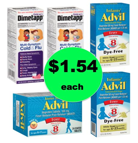Don't Miss Children's Robitussin, Dimetapp or Advil ONLY $1.54 Each {OR Less!} at Walgreens! ~Ends Saturday!
