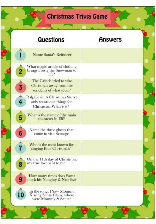 Christmas Bingo Printable Pdf