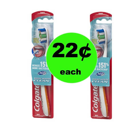 Pick Up 22¢ Colgate 360 Toothbrushes at Walgreens! (12/31 – 1/6)