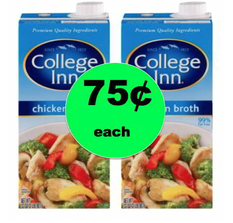 Pick Up College Inn Broth ONLY 75¢ Each at Winn Dixie! Starts Tomorrow!
