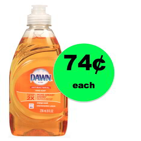 Tackle Those Dishes with Dawn Dish Liquid ONLY 74¢ Each at Walgreens! This Week!
