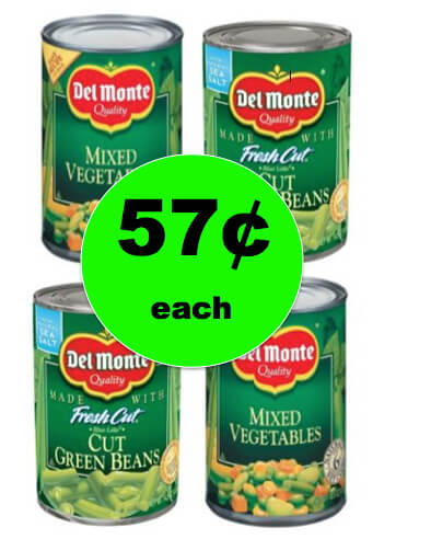 Get Your Veggies for Cheap with 57¢ Del Monte Canned Veggies at Target! This Week Only!