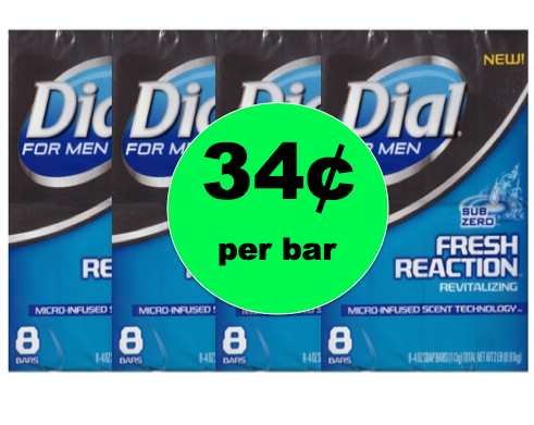Keep Those Guys Clean with Dial Men's Bar Soap ONLY 34¢ Per Bar {No Coupon Needed!} at Target! ~NOW!