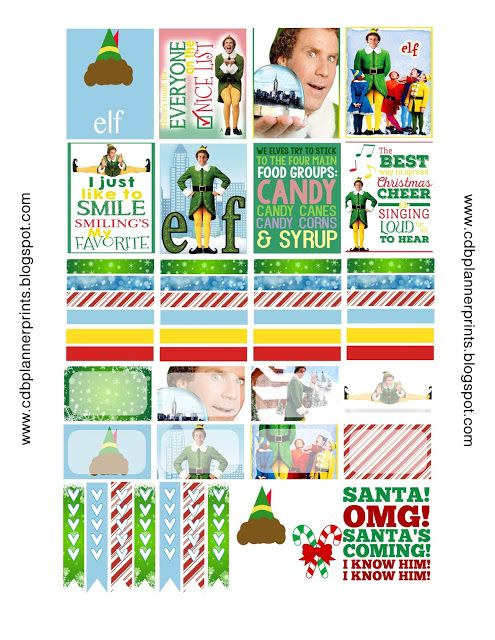 FREE Elf Printable Planner Stickers!