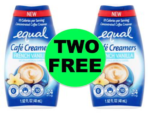 TWO (2!) FREE Equal Cafe Coffee Creamers Right Now at Walmart!