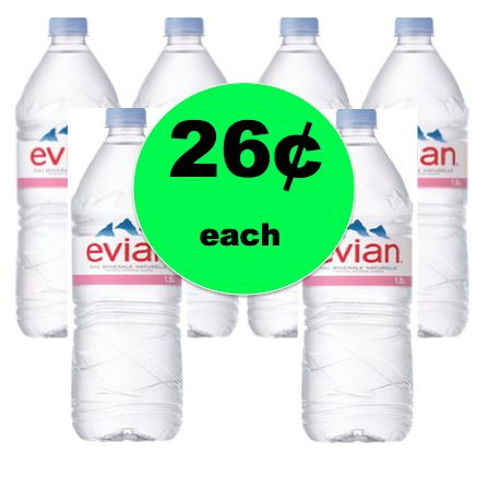 (NLA) SUPER CHEAP WATER! Pick Up Evian Water ONLY 26¢ Each at Winn Dixie! Ends Tomorrow!