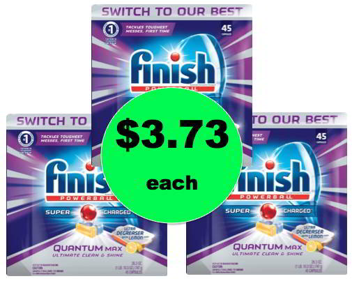 (NLA) Get Sparkly Clean Dishes with $3.73 Finish Quantum Dishwasher Detergent (Reg. $10+) at Target! Right Now!