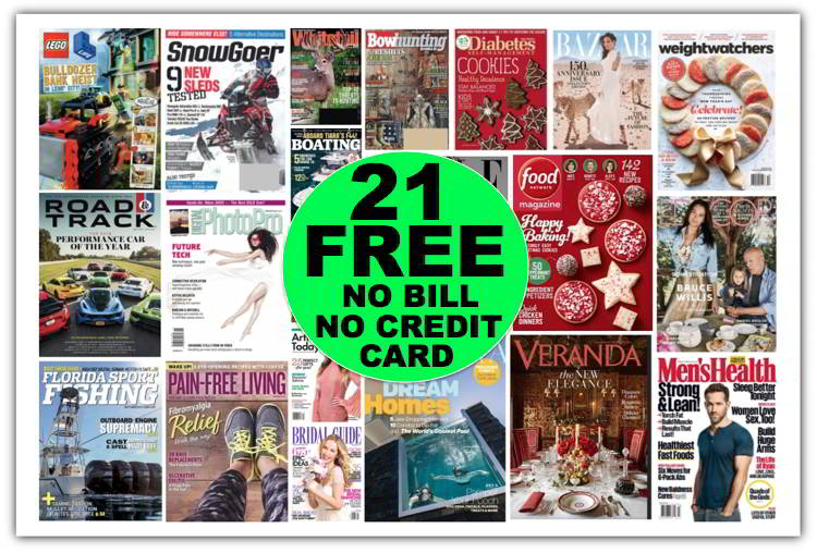 GREAT GIFT IDEA! FREE Magazine Subscriptions Like a Year of Weight Watchers {Worth $29} Plus 20 Other FREE Magazines {No Payment Needed & You'll Never Get a Bill!}
