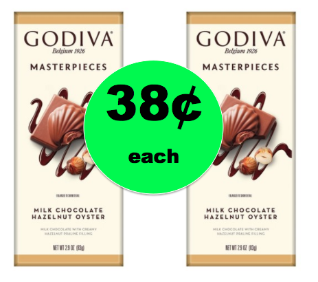 CHEAP CHOCOLATE ALERT! Pick Up 38¢ Godiva Masterpieces Milk Chocolate Bars at Target! ~Right NOW!