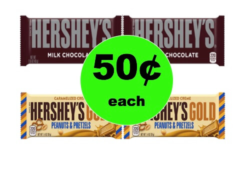 CHEAP Chocolate Alert! Get FOUR (4!) Hershey Bars Only 50¢ Each at Winn Dixie! (Ends 1/2)