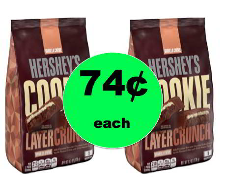 CHEAP Chocolate Alert! Pick Up 74¢ Hershey's Cookie Layer Crunch Candy Bags at Walmart! ~Right Now!
