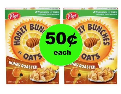 Don't Miss 50¢ Post Honey Bunches of Oats Cereal at Walgreens! (Ends 1/6)