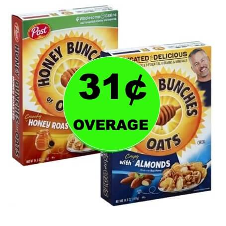 TWO (2!) FREE + 31¢ Overage on Post Honey Bunches of Oats Cereal at Winn Dixie! ~ Starts Today!