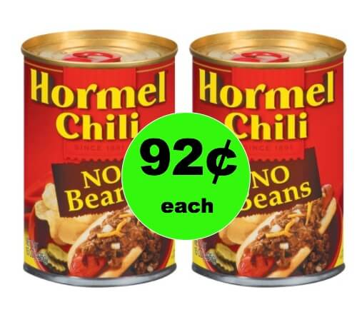 Warm Them Up with Hormel Chili Only 92¢ Each at Winn Dixie! (Ends 1/2)