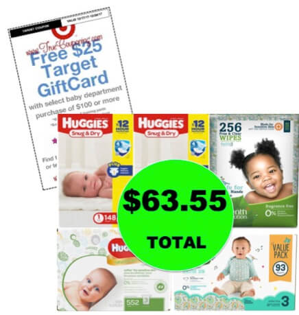 Don't Miss This Deal! Just $63.55 for (3!) Diaper Boxes AND (2!) Wipes Refills at Target! Ends Tomorrow!