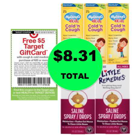 (NLA) For Only $8.31, Get (3) Hyland's Kids Cough Syrup & (1) Little Remedies Saline Drops at Target! Ends Saturday!