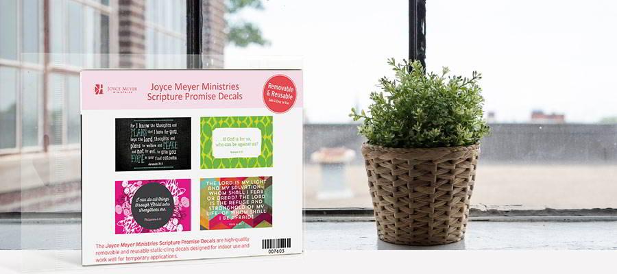FREE Joyce Meyer Scripture Promise Decals!