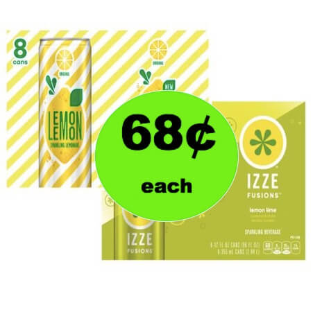 Pick Up 68¢ Lemon Lemon & Izze Fusions 8 Packs at Walmart! (Ends 12/27)