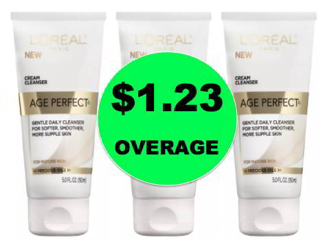 THREE (3!) FREE + $1.23 Overage on L'Oreal Age Perfect Cleanser at Walgreens! Ends Today!
